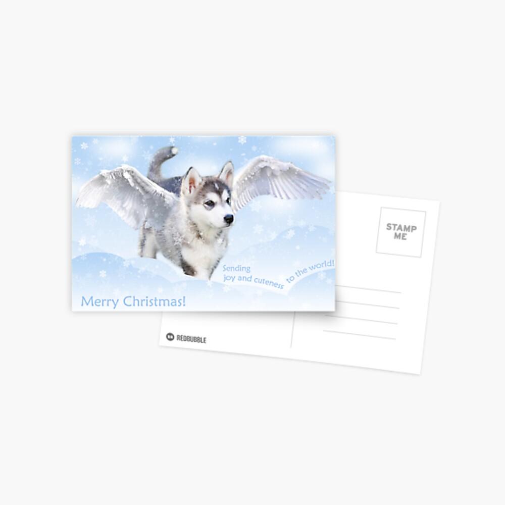 Angel puppy christmas card Postcard