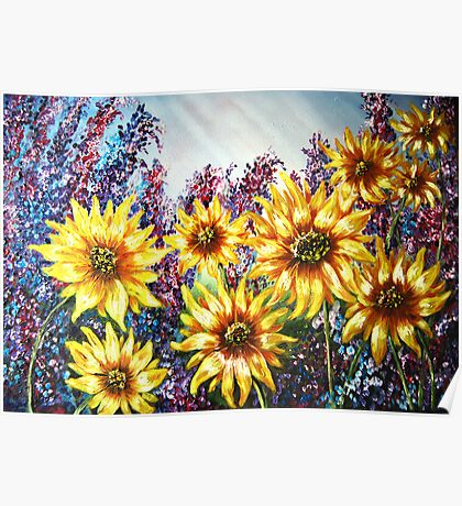 """Sunflowers"" - oil painting Poster"