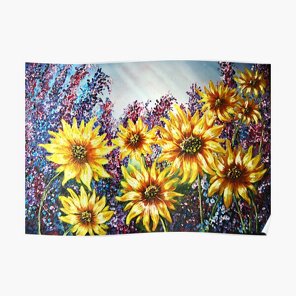 """""""Sunflowers"""" - oil painting Poster"""