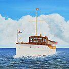 """Nomrah"" - 1928 Elco Yacht - owned by Harmon Elliott  by Brad A. Thomas"