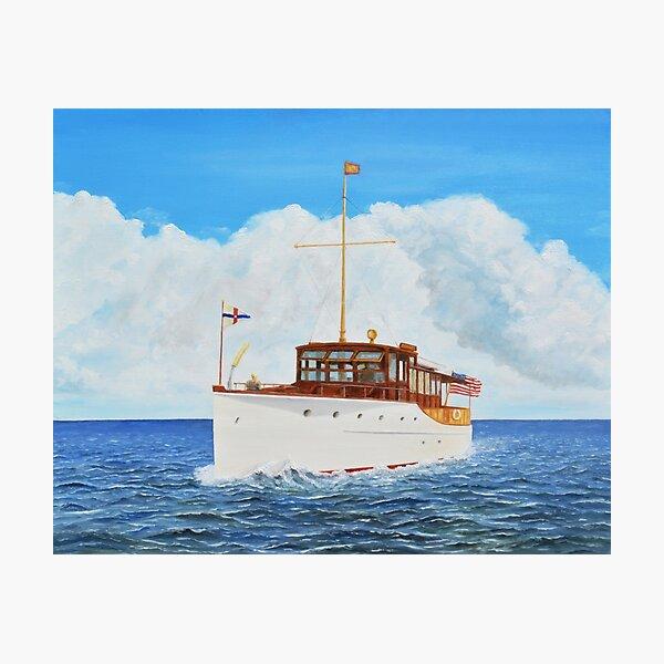"""Nomrah"" - 1928 Elco Yacht - owned by Harmon Elliott  Photographic Print"