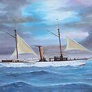 """Onieda"" - 1890s Power Yacht by Brad A. Thomas"