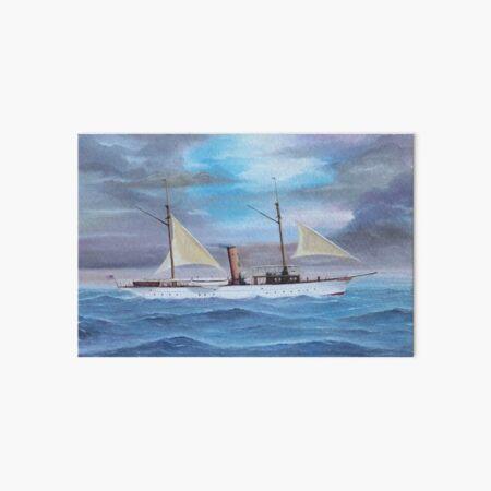 """Onieda"" - 1890s Power Yacht Art Board Print"