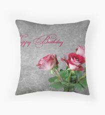 Birthday Bouquet Throw Pillow