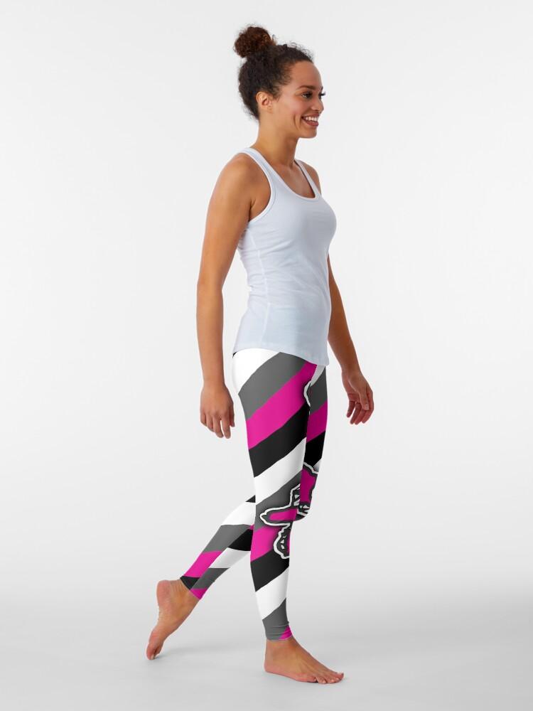 Alternate view of Girls Snowmobile Winter Sports Design Pattern Leggings