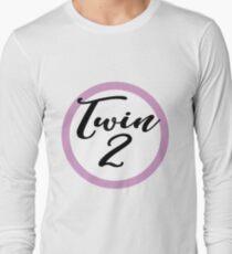 Twin 2 pink  Long Sleeve T-Shirt