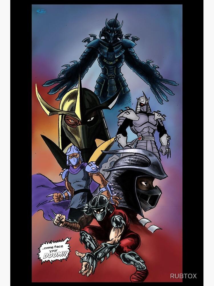 Tmnt Shredder Art Board Print By Rubtox Redbubble