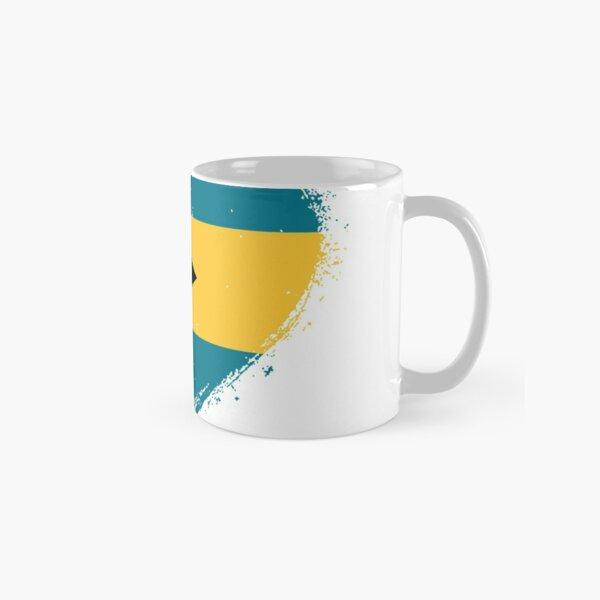 Grungy I Love Bahamas Heart Flag  Classic Mug