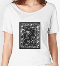 Koi Carp Lino Print Women's Relaxed Fit T-Shirt