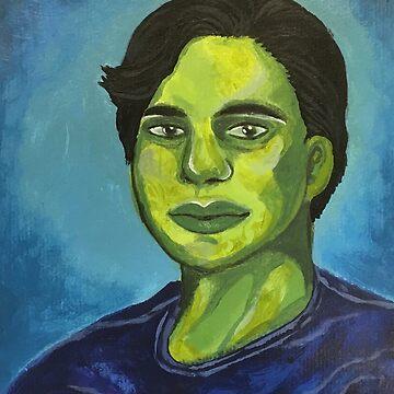 Acrylic Portrait original art by audross