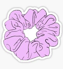 pink scrunchie Sticker
