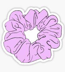 pink scrunchie Sticker