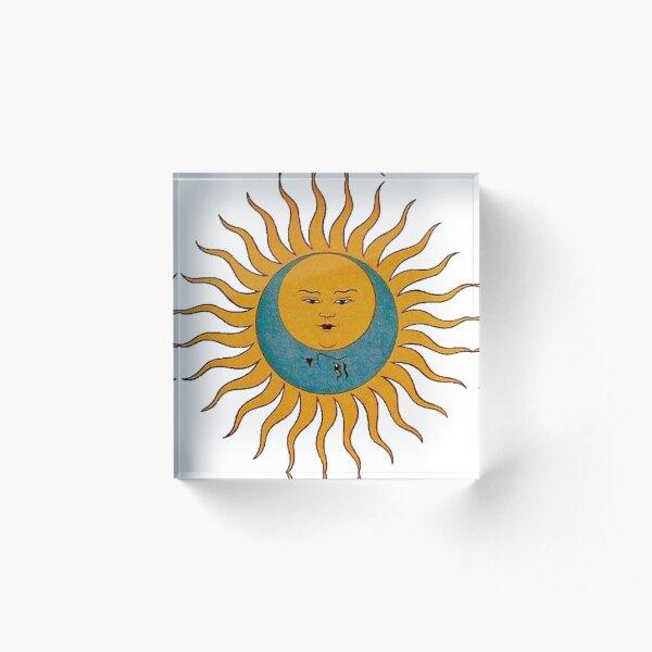 Sun and Moon Acrylic Block