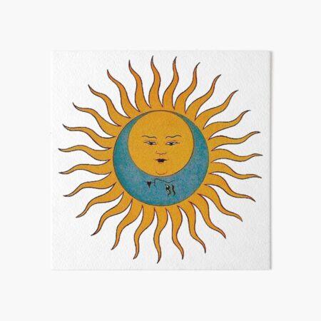 Sun and Moon Art Board Print