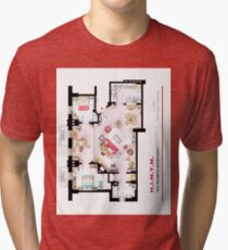 Ted Mosby's apartment from 'HIMYM' Tri-blend T-Shirt