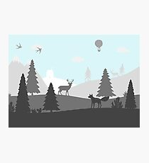 Layered Walddruck Fotodruck