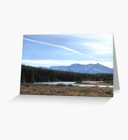 Fall Mountain Meadow With A View Greeting Card