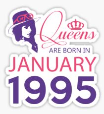 It's My Birthday 23. Made In January 1995. 1995 Gift Ideas. Sticker