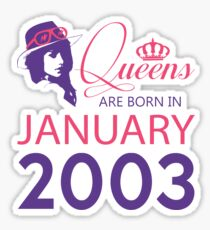 It's My Birthday 15. Made In January 2003. 2003 Gift Ideas. Sticker