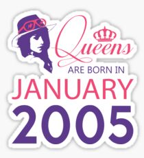 It's My Birthday 13. Made In January 2005. 2005 Gift Ideas. Sticker
