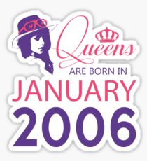 It's My Birthday 12. Made In January 2006. 2006 Gift Ideas. Sticker