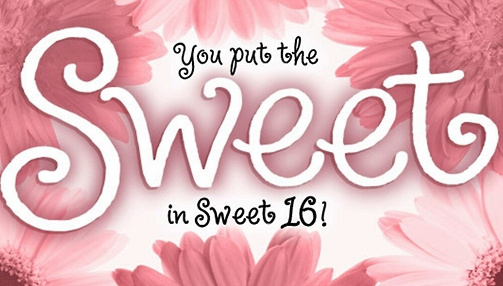 Sweet 16 Birthday Card By Sherry Seely Redbubble