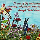 Flower Meadow - With Philippians 4:7 Bible Verse  by EuniceWilkie