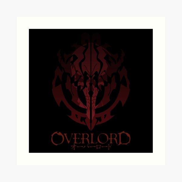 Anime Overlord Ainz Ooal Gown Crest Art Print