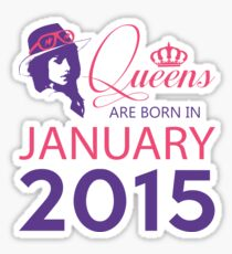 It's My Birthday 3. Made In January 2015. 2015 Gift Ideas. Sticker