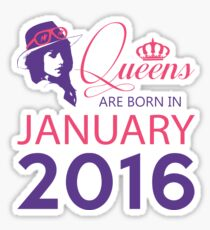 It's My Birthday 2. Made In January 2016. 2016 Gift Ideas. Sticker
