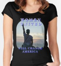 Women United Vote Changers T-Shirt Women's Fitted Scoop T-Shirt
