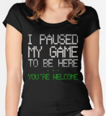 Paused my game Women's Fitted Scoop T-Shirt