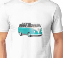 Split VW Bus Teal Unisex T-Shirt