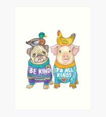 Be Kind to All Kinds Art Print