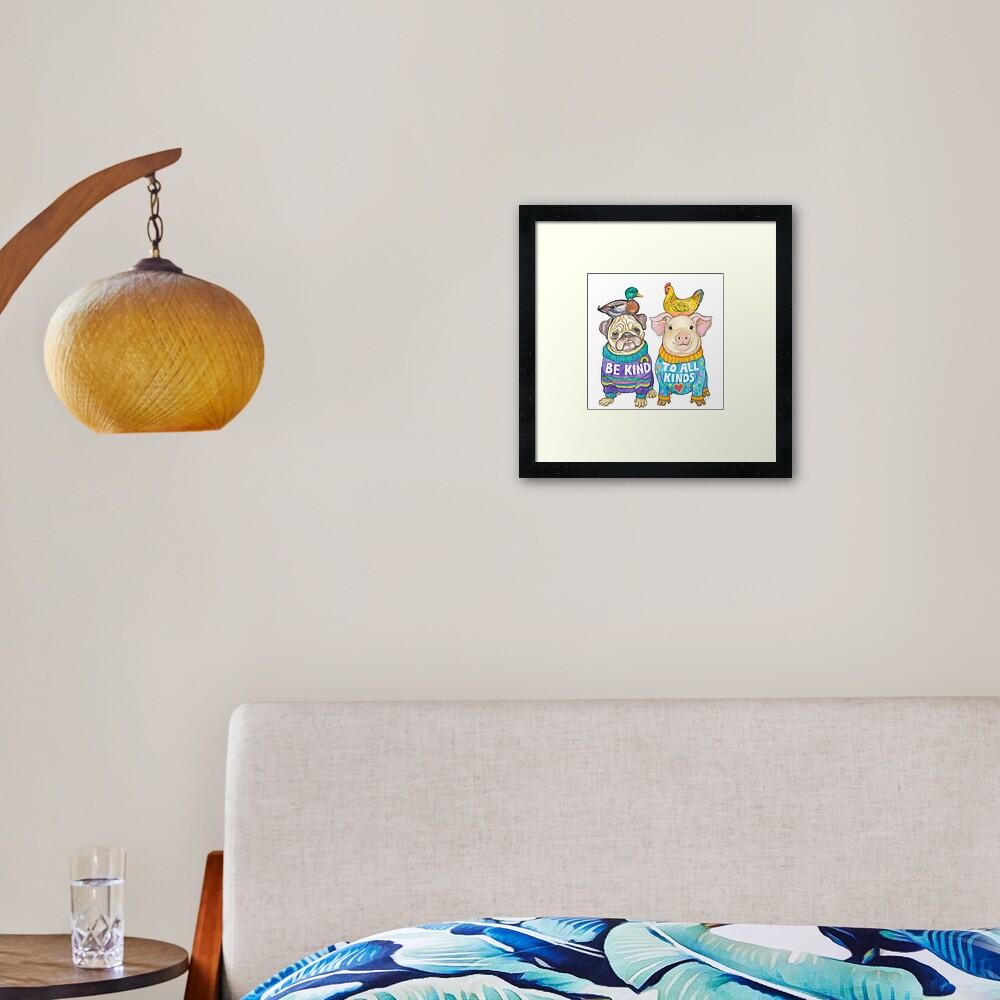 Be Kind to All Kinds Framed Art Print