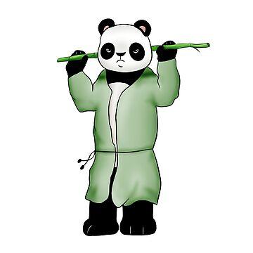Panda the wild warrior by Melcu