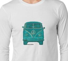 Splitty VW Bus Front Green Long Sleeve T-Shirt