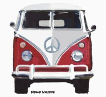 Splitty VW Bus Front Red