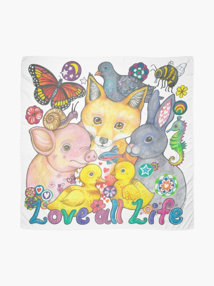 Alternate view of Love All Life Scarf