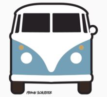 Split VW Bus Front Blue