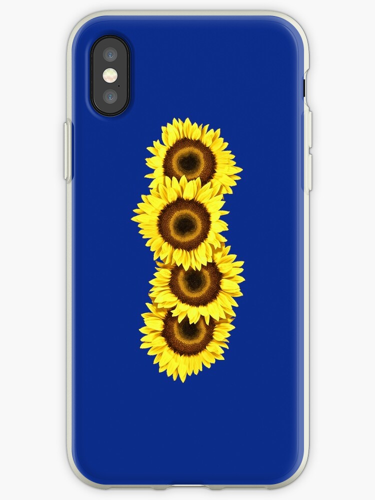 Iphone Case Sunflowers - Dark Blue by mpodger