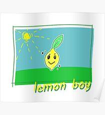 cute lemon boy Poster