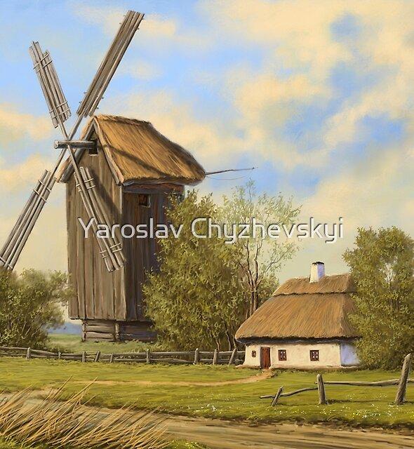 Rural landscape by Yaroslav Chyzhevskyi
