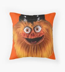 Gritty Philadelphia Flyers Mascot Throw Pillow