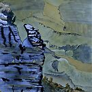 Canyon Shapes Painting by Warren  Thompson
