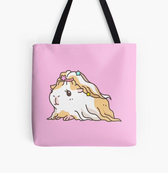 Silkie Guinea pig  All Over Print Tote Bag
