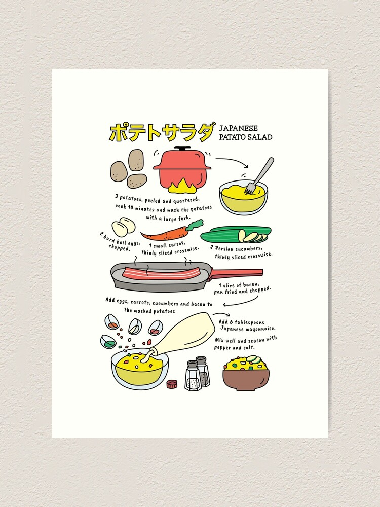 Alternate view of Japanese Potato Salad  Art Print