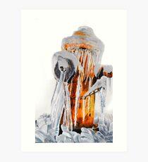 Frozen Fire Hydrant Art Print