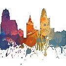 Cincinnati - Painted Skylines by DigitalShards