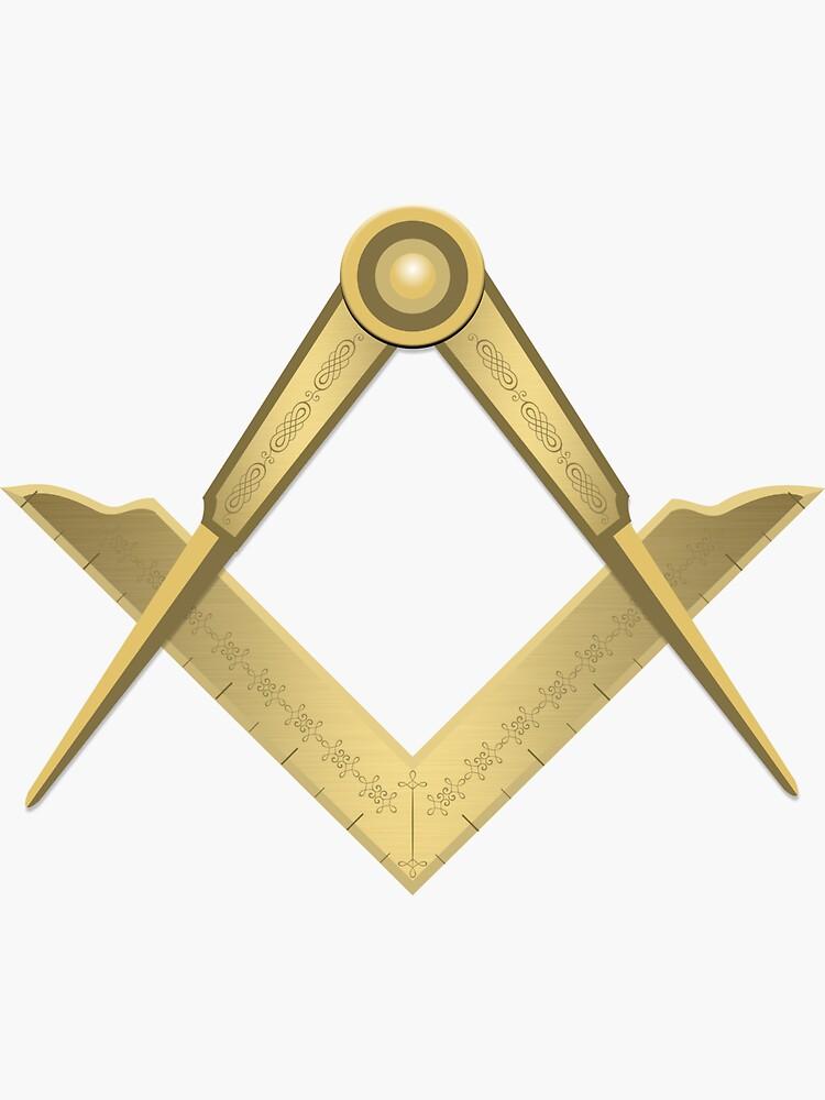 Winkelmaß und Zirkel Freimaurer Zeichen Symbol von Dator